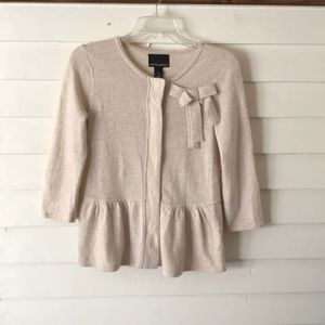 Cynthia Rowley peplum cardigan Size Medium